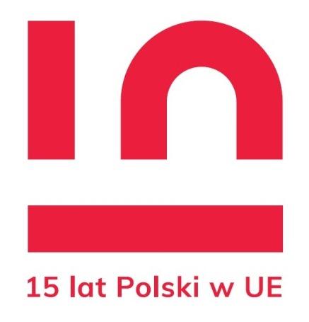 Logo piętnastej rocznicy wstąpienia Polski do Unii Europejskiej