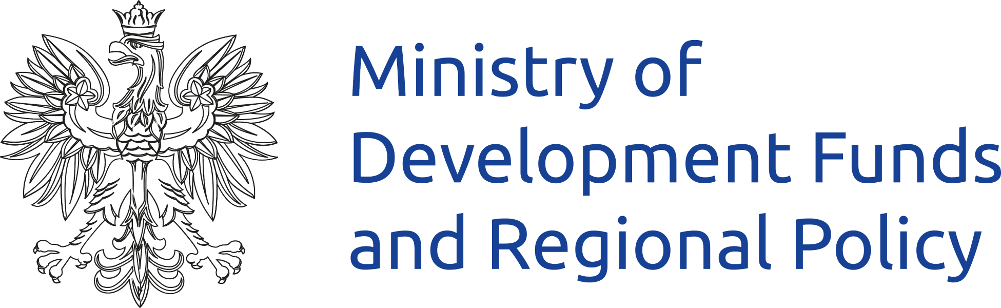 Logo of Ministry of Development Funds and Regional Policy - link to website